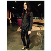Shiri Appleby - Sunday Dinner Instagram Pic (Leather Pants) X1