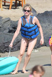 Michelle Williams Bikini candids in Hawaii