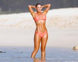 Kym Johnson wearing a bikini in Hawaii 03/12/13