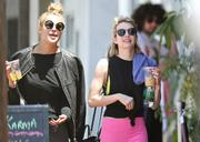 Emma Roberts out in pink pants in Los Angeles 05/28/14